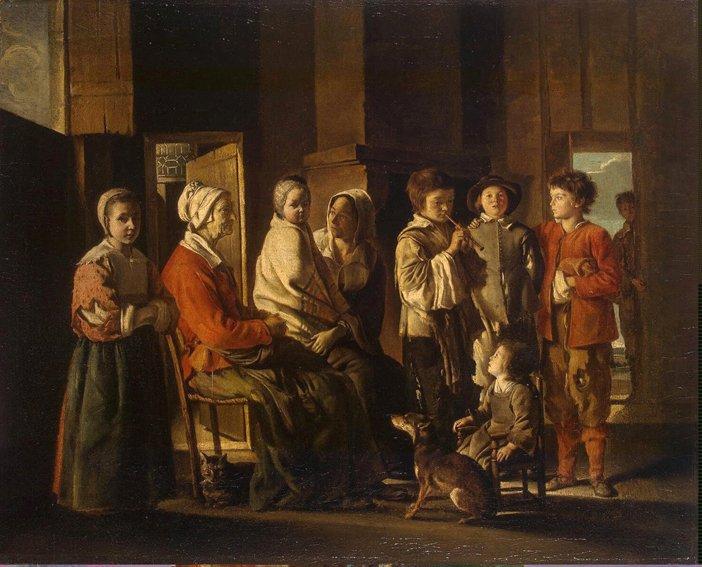 La vie au XVII°. 16lespetitesmains_enfants-trouves_lenain-1640